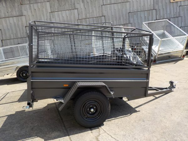 7 x 4 x 20 Caged Box Trailer 2