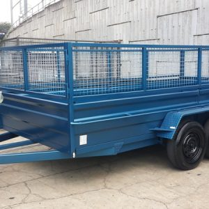 Blue Car Box Trailer 1
