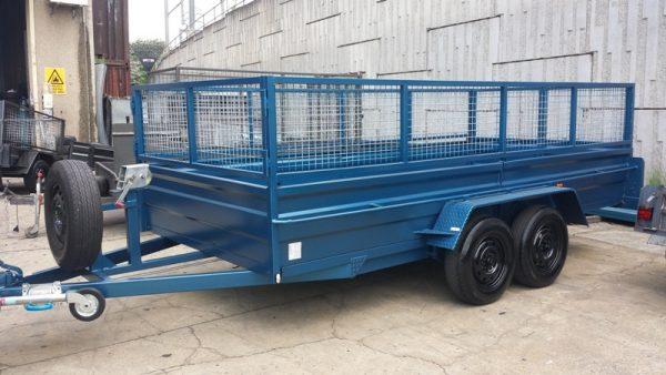 Blue Car Box Trailer 1